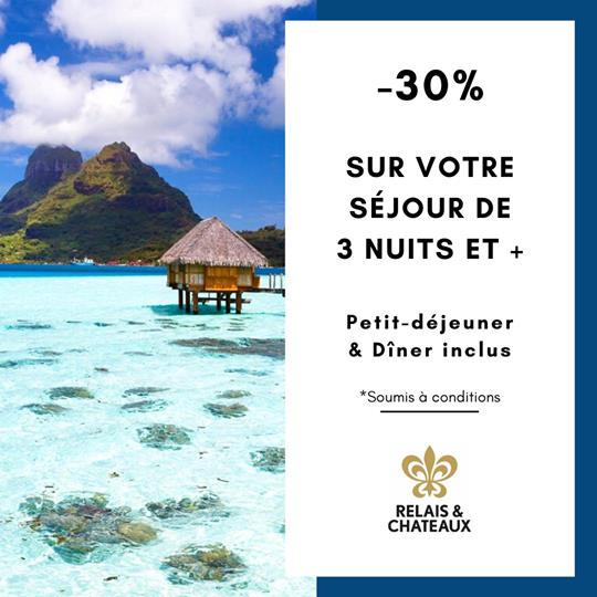 -30% sur votre séjour de 3 nuits et + | Bora Bora Pearl Beach Resort & Spa – Relais & Châteaux