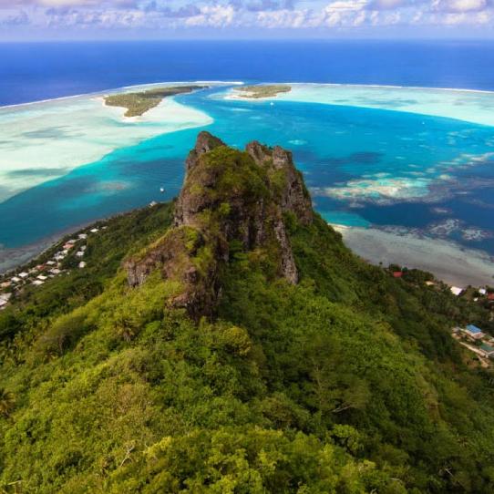 Combiné nature 4 îles de la société : Tahiti,Moorea,Tahaa,Maupiti