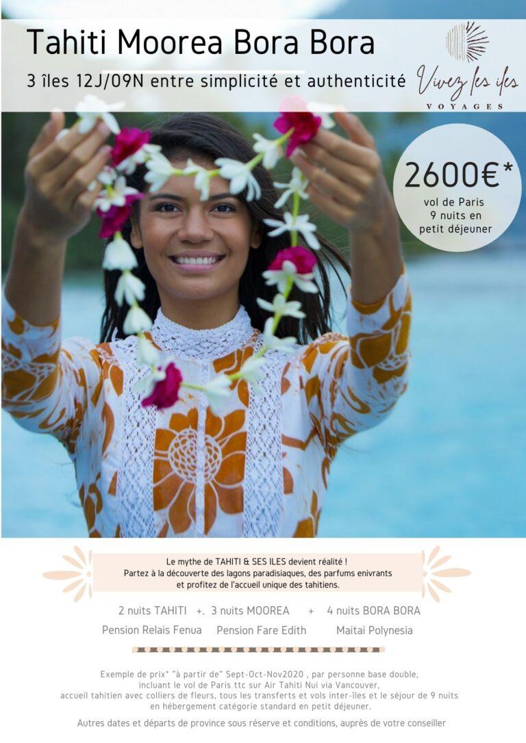 Maeva : 3 îles à partir de 2600€ entre simplicité et authenticité 12J / 09N à partir du 15 Oct